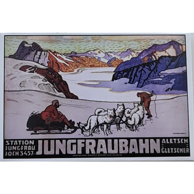 Magnet Jungfraubahn Plakat