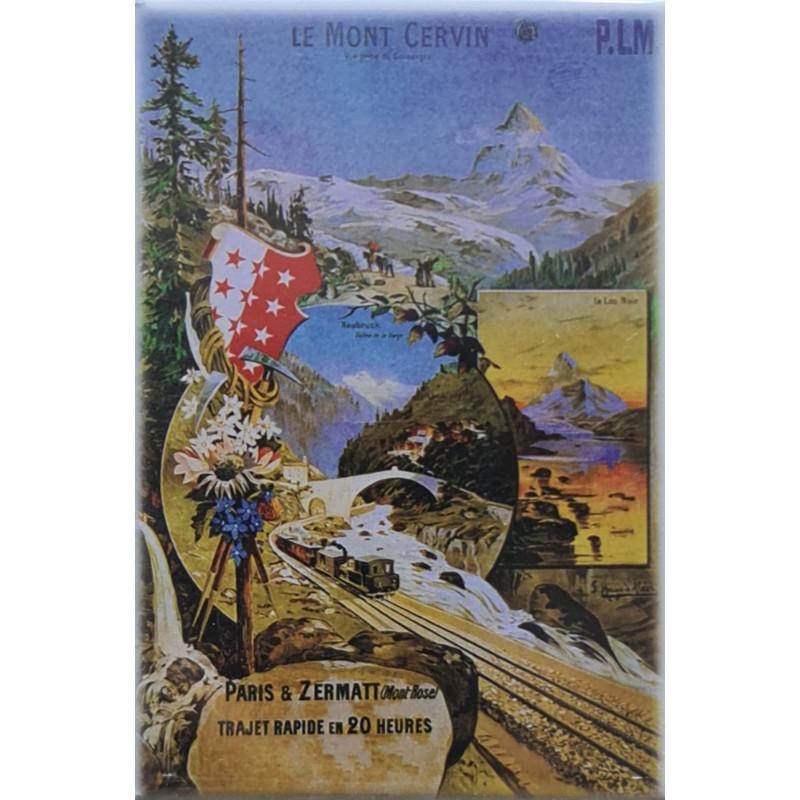 Magnet Zermatt Bahnplakat